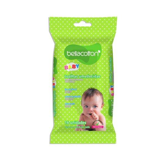 Lenço Umedecido de Bolso Bebê bellacotton 16un