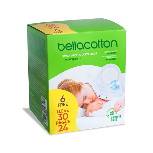 Absorvente para Seios Bellacotton Leve 30un Pague 24un