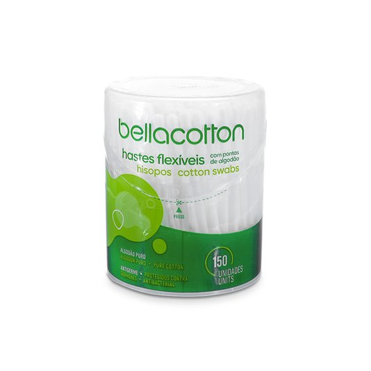 Cotonete Bellacotton Pote Flip Top 150un