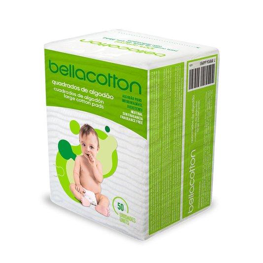 Giga Kit com 60 Algodão Quadrado Baby Maxi Bebê Bellacotton 50un