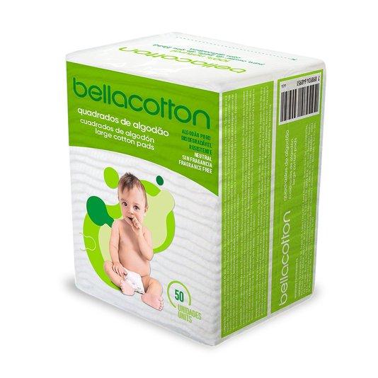 Kit 12 Algodão Quadrado Baby Maxi Bebê Bellacotton 50un