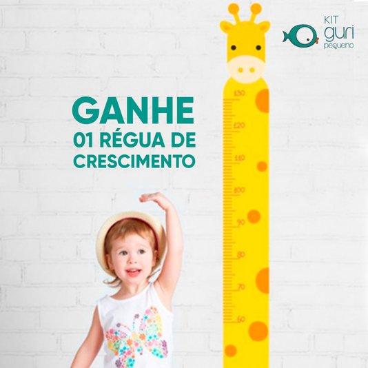 Kit Guri Pequeno Régua de Crescimento Girafa bellacotton