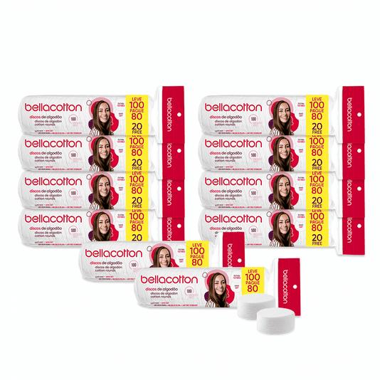 Kit Profissional com 10 Pacotes de Discos de Algodão 100un