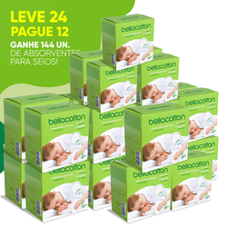 Kit Leve 24 Pague 12 Absorventes para Seios 12un Bellacotton